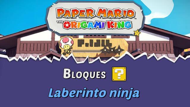 TODOS los bloques ? en Laberinto ninja de Paper Mario The Origami King