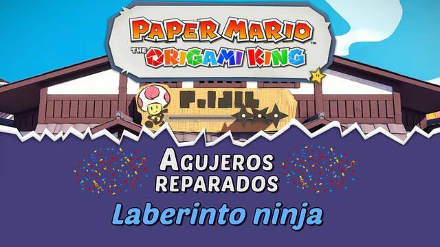 TODOS los agujeros en Laberinto ninja de Paper Mario The Origami King