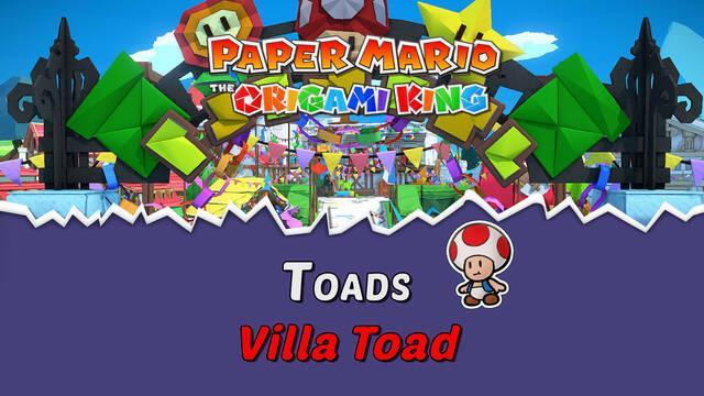 TODOS los Toads en Villa Toad de Paper Mario The Origami King