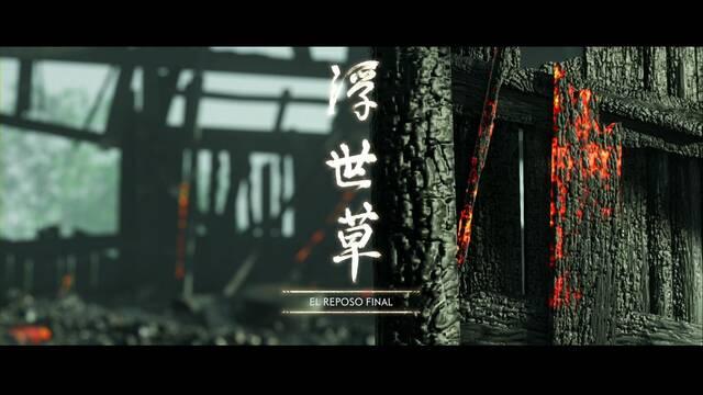 El reposo final al 100% en Ghost of Tsushima