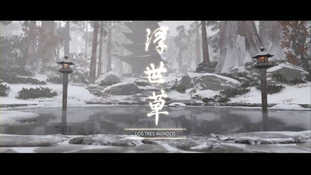 Los tres mundos al 100% en Ghost of Tsushima