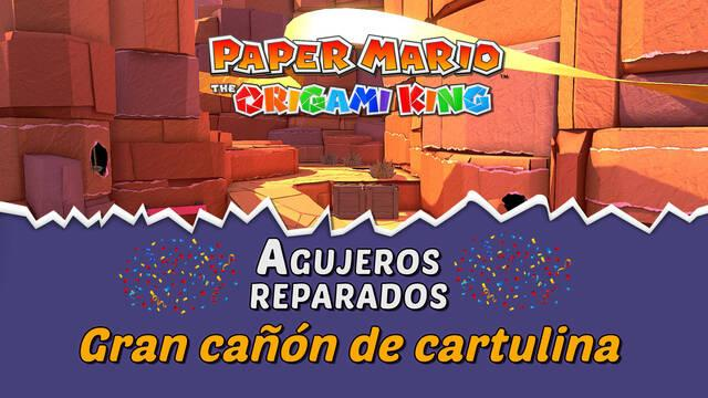 TODOS los agujeros en Gran cañón de cartulina de Paper Mario The Origami King