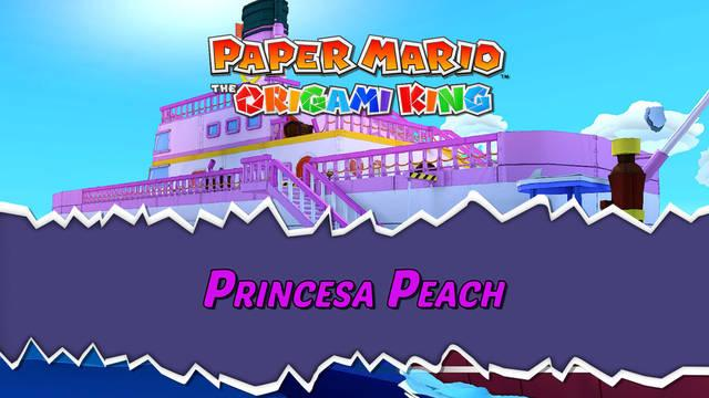 Princesa Peach al 100% en Paper Mario: The Origami King