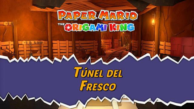 Túnel del Fresco al 100% en Paper Mario: The Origami King