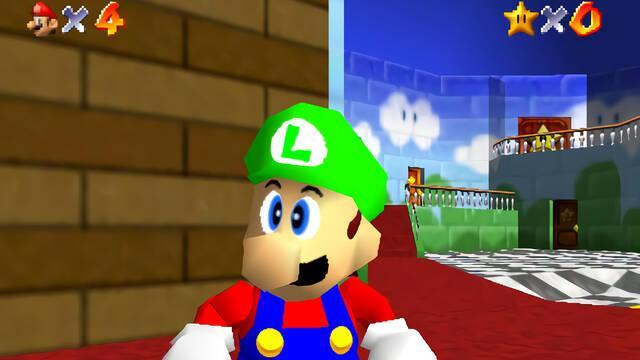 Super Mario 64 Luigi filtración