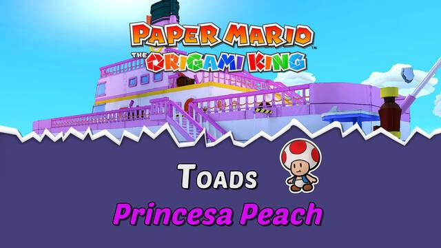 TODOS los Toads en Princesa Peach de Paper Mario The Origami King