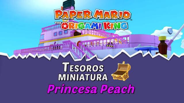 TODOS los tesoros en Princesa Peach de Paper Mario The Origami King
