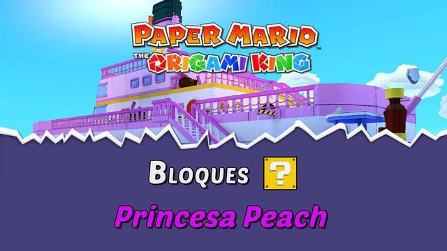TODOS los bloques ? en Princesa Peach de Paper Mario The Origami King