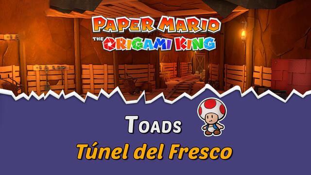 TODOS los Toads en Túnel del Fresco de Paper Mario The Origami King