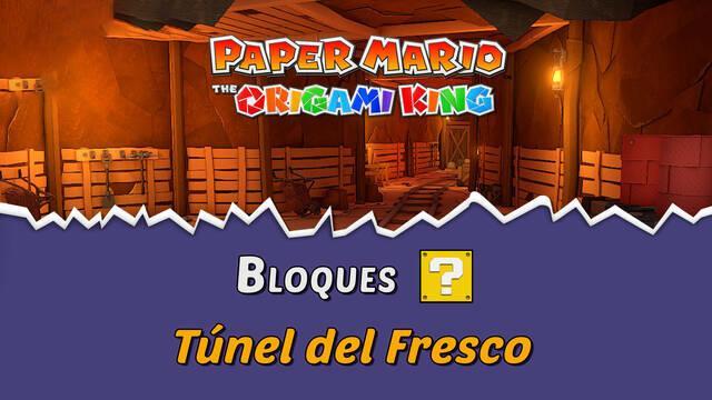 TODOS los bloques ? en Túnel del Fresco de Paper Mario The Origami King