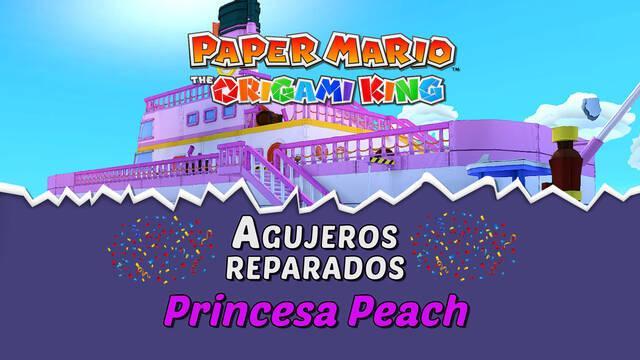 TODOS los agujeros en Princesa Peach de Paper Mario The Origami King