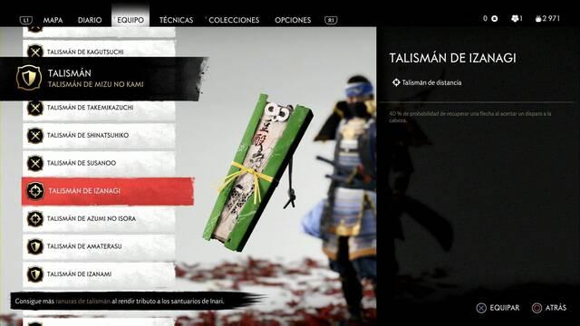 Talismanes y cuáles son los mejores en Ghost of Tsushima