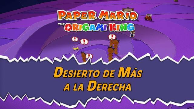 Desierto de Más a la Derecha al 100% en Paper Mario: The Origami King