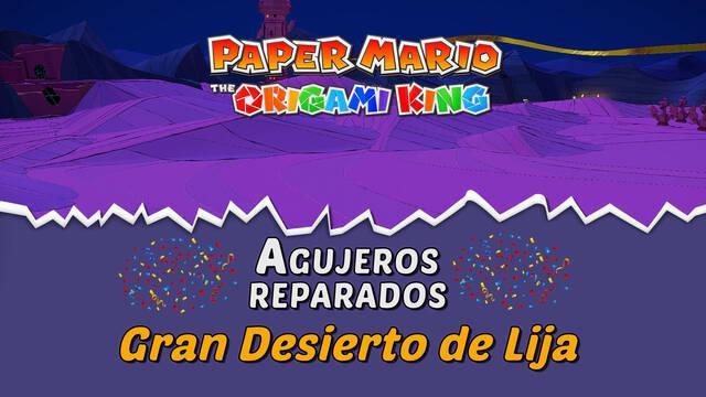 TODOS los agujeros en Gran Desierto de Lija de Paper Mario The Origami King