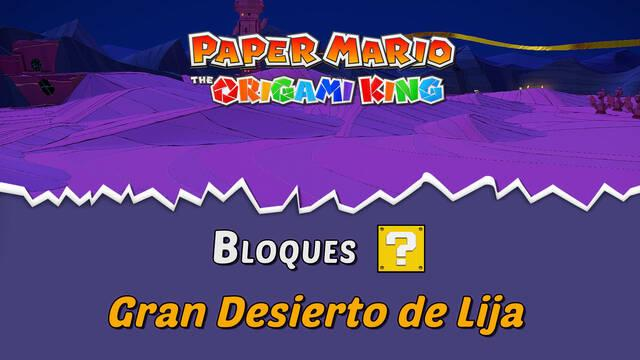 TODOS los bloques ? en Gran Desierto de Lija de Paper Mario The Origami King