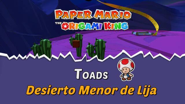 TODOS los Toads en Desierto Menor de Lija de Paper Mario The Origami King