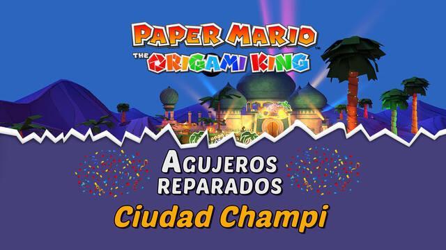 TODOS los agujeros en Ciudad Champi de Paper Mario The Origami King