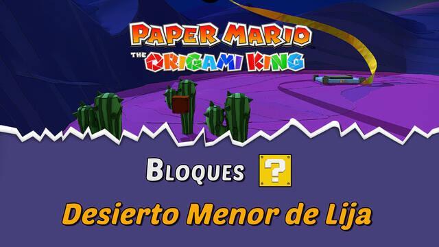 TODOS los bloques ? en Desierto Menor de Lija de Paper Mario The Origami King