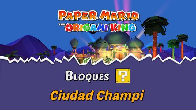 TODOS los bloques ? en Ciudad Champi de Paper Mario The Origami King