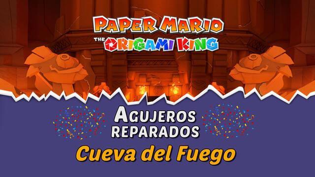 TODOS los agujeros en Cueva del Fuego de Paper Mario The Origami King