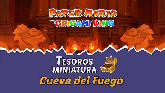 TODOS los tesoros en Cueva del Fuego de Paper Mario The Origami King
