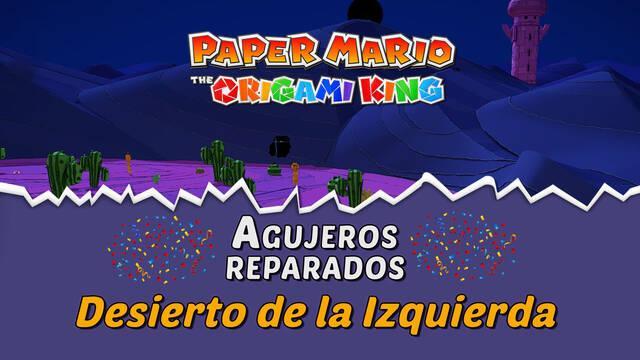 TODOS los agujeros en Desierto de la Izquierda de Paper Mario The Origami King