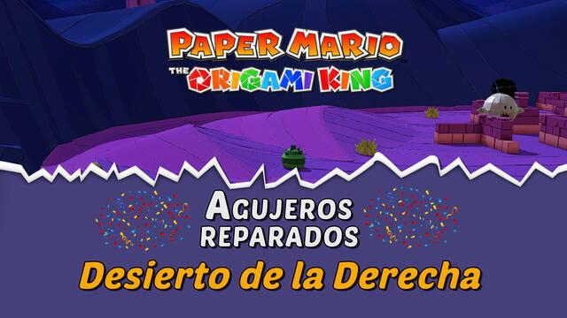TODOS los agujeros en Desierto de la Derecha de Paper Mario The Origami King