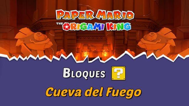 TODOS los bloques ? en Cueva del Fuego de Paper Mario The Origami King