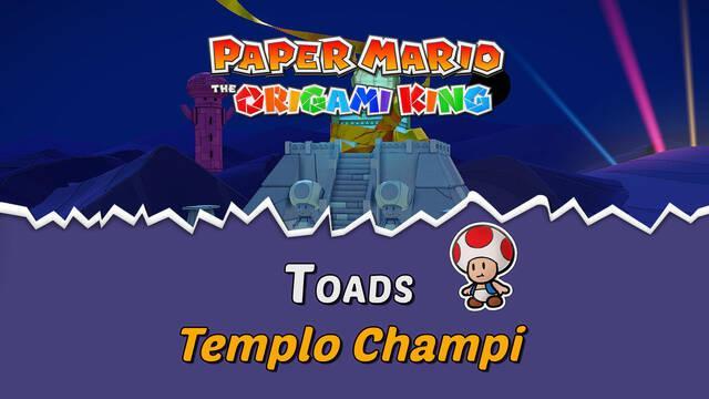TODOS los Toads en Templo Champi de Paper Mario The Origami King