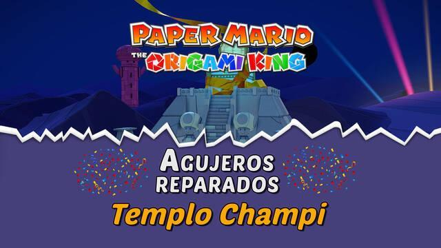 TODOS los agujeros en Templo Champi de Paper Mario The Origami King