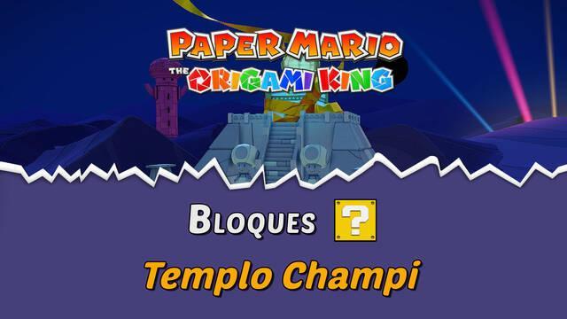 TODOS los bloques ? en Templo Champi de Paper Mario The Origami King