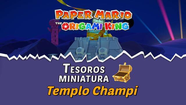 TODOS los tesoros en Templo Champi de Paper Mario The Origami King