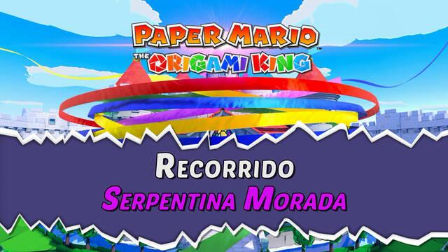 Serpentina Morada al 100% en Paper Mario: The Origami King