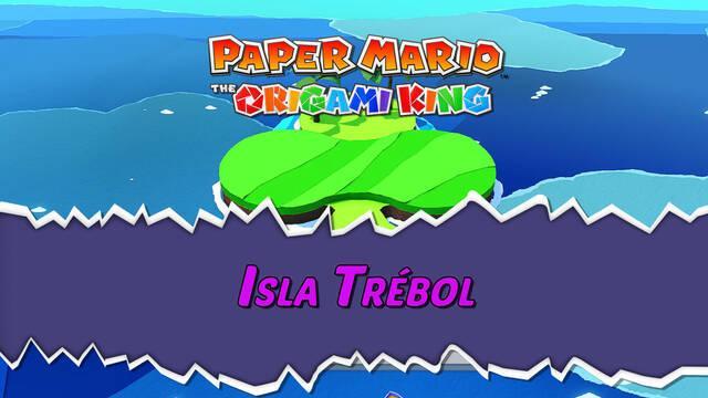 Isla Trébol al 100% en Paper Mario: The Origami King