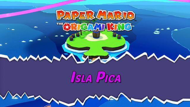 Isla Pica al 100% en Paper Mario: The Origami King