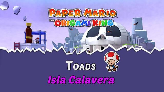 TODOS los Toads en Isla Calavera de Paper Mario The Origami King