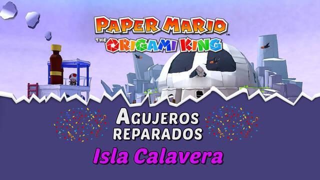 TODOS los agujeros en Isla Calavera de Paper Mario The Origami King