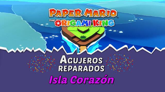 TODOS los agujeros en Isla Corazón de Paper Mario The Origami King
