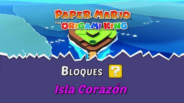 TODOS los bloques ? en Isla Corazón de Paper Mario The Origami King