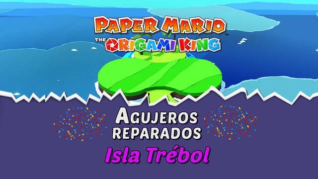 TODOS los agujeros en Isla Trébol de Paper Mario The Origami King