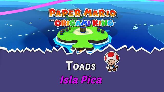 TODOS los Toads en Isla Pica de Paper Mario The Origami King