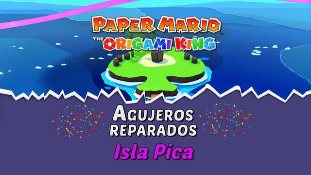 TODOS los agujeros en Isla Pica de Paper Mario The Origami King