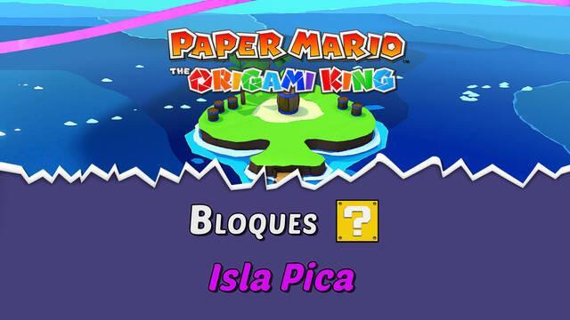 TODOS los bloques ? en Isla Pica de Paper Mario The Origami King