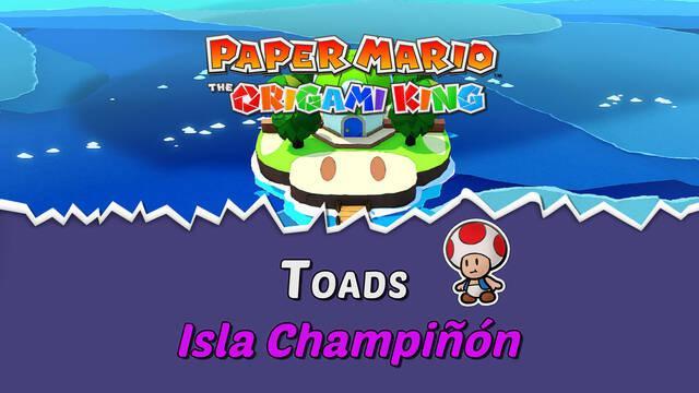 TODOS los Toads en Isla Champiñón de Paper Mario The Origami King