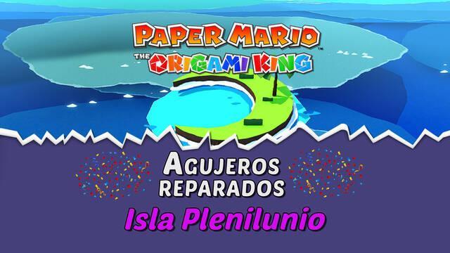 TODOS los agujeros en Isla Plenilunio de Paper Mario The Origami King