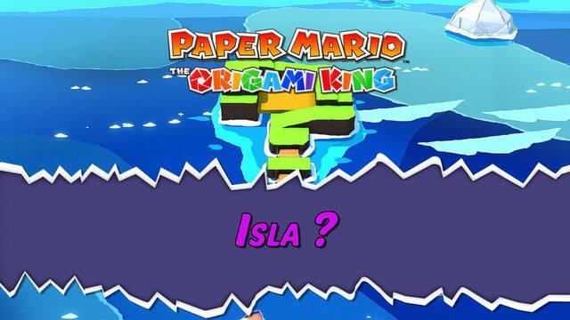 Isla ? al 100% en Paper Mario: The Origami King