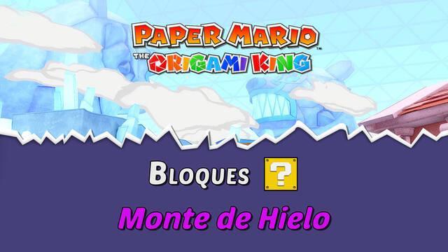 TODOS los bloques ? en Monte del Hielo de Paper Mario The Origami King