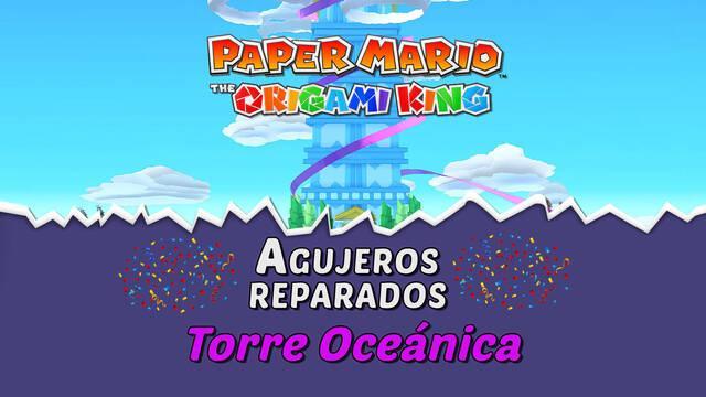TODOS los agujeros en Torre Oceánica de Paper Mario The Origami King