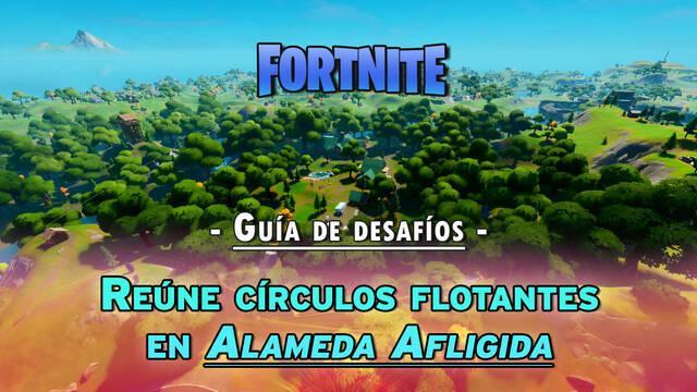 Fortnite: Reúne círculos flotantes en Alameda Afligida - LOCALIZACIÓN