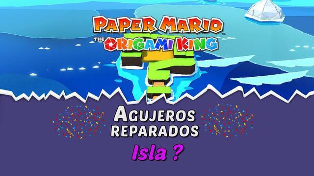 TODOS los agujeros en Isla ? de Paper Mario The Origami King